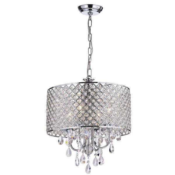Most Popular Sinead 4 Light Chandeliers With This Fixture Features A Crystal Encrusted Drum Shade And (View 12 of 25)