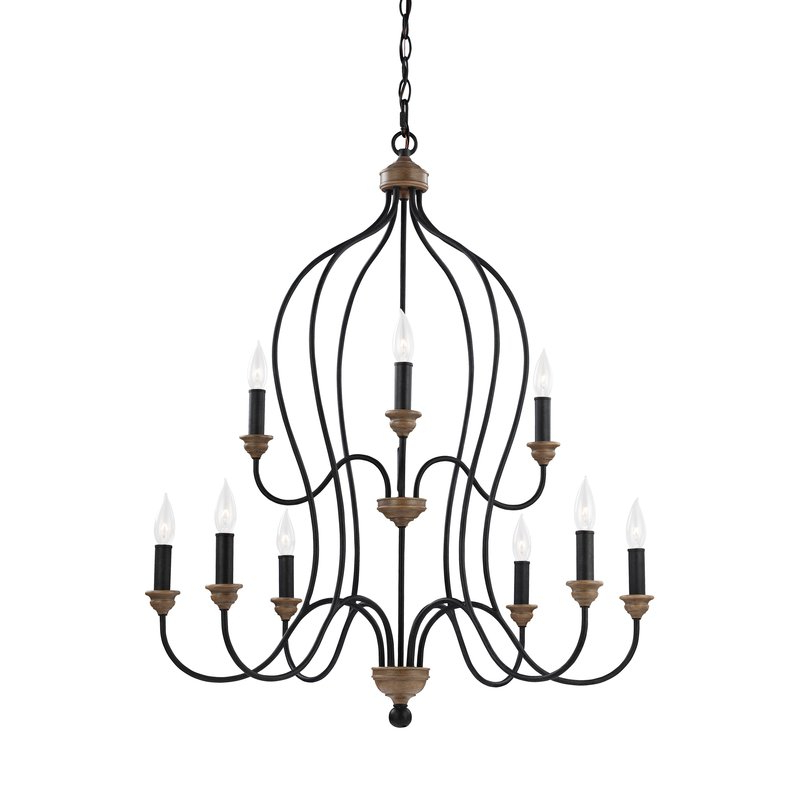Most Popular Sundberg 9 Light Candle Style Chandelier With Regard To Gaines 9 Light Candle Style Chandeliers (View 6 of 25)