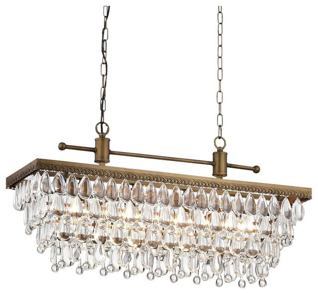 Most Popular Von 4 Light Crystal Chandeliers Inside Bythos 4 Light Crystal Chandelier, Golden Bronze (View 18 of 25)