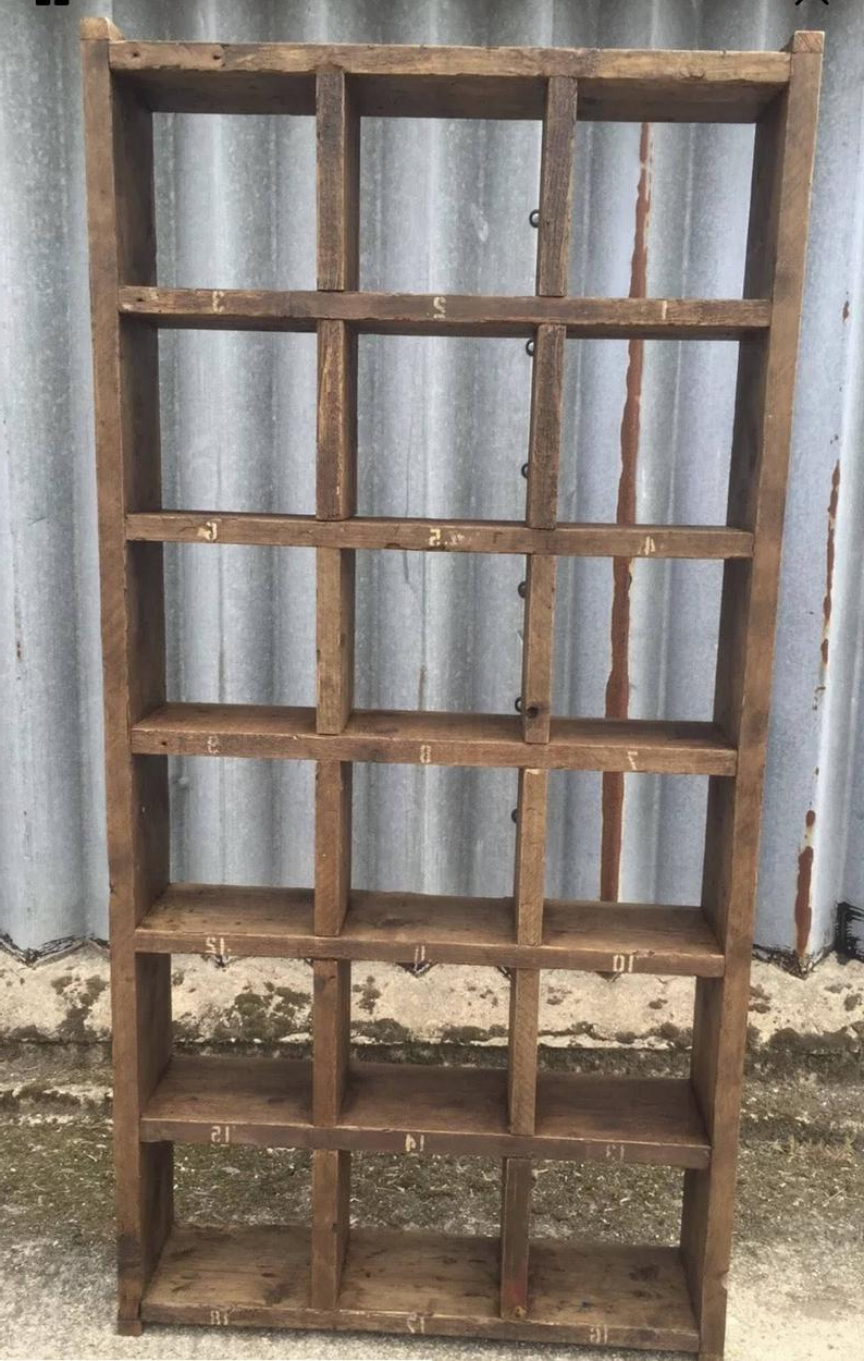 Most Popular Zack Standard Bookcases Throughout The Tall Standard! Industrial Up Cycled Pigeon Hole Shelving Unit (View 10 of 20)