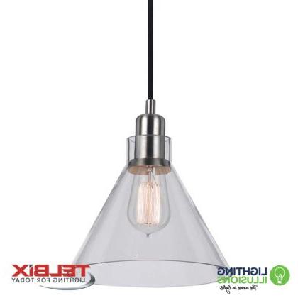 Most Recent Alden 3 Light Single Globe Pendants Regarding Clear Telbix Alden Single Glass Pendant Light (View 14 of 25)