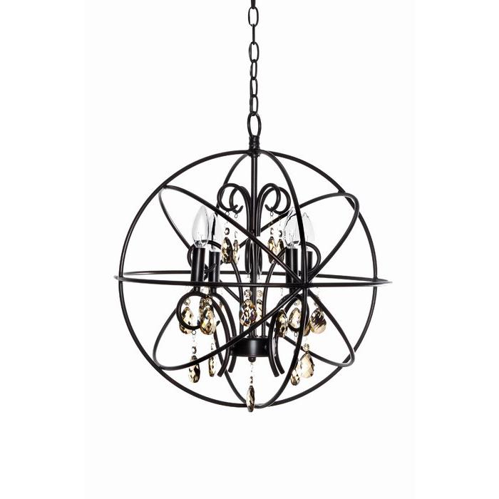 Most Recent Alden 3 Light Single Globe Pendants Throughout Alden 4 Light Globe Chandelier (View 8 of 25)