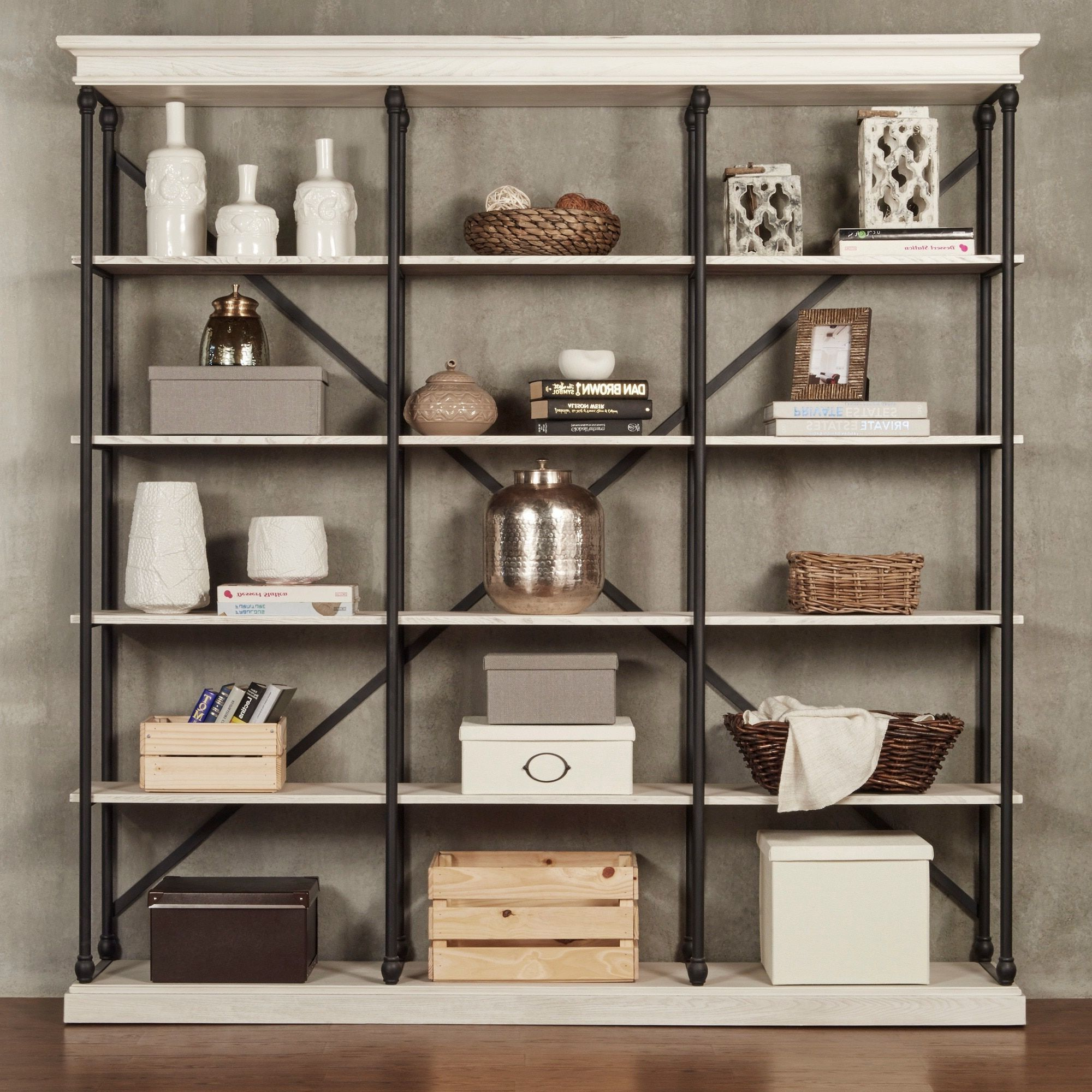 Most Recent Barnstone Cornice Triple Shelving Bookcaseinspire Q Pertaining To Poynor Library Bookcases (View 7 of 20)