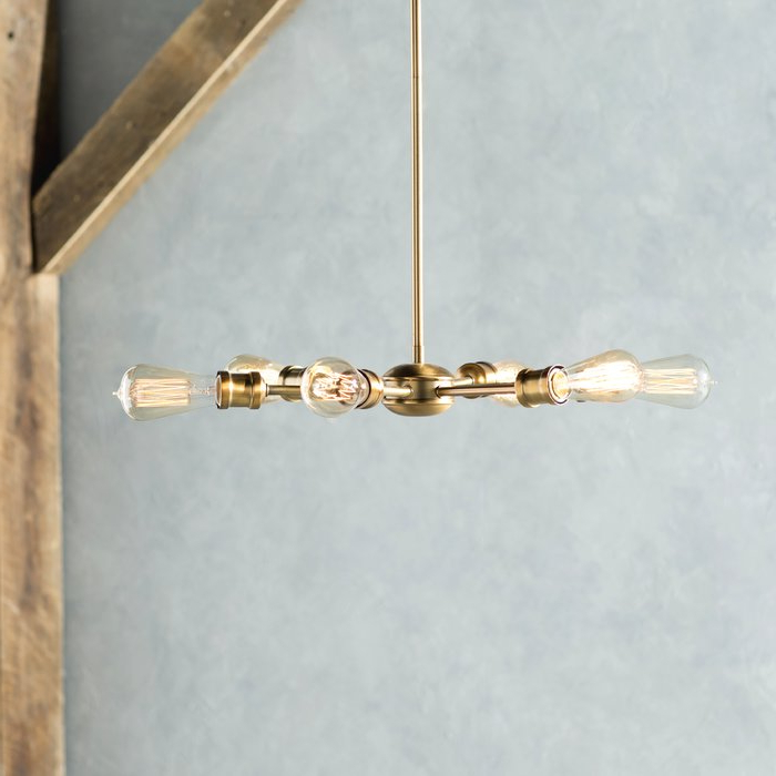 Most Recent Bautista 6 Light Sputnik Chandeliers Intended For Bautista 6 Light Sputnik Chandelier (View 10 of 25)