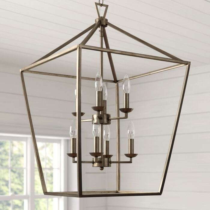Most Recent Carmen 8 Light Lantern Geometric Pendants Throughout Carmen 8 Light Lantern Geometric Pendant (View 21 of 25)
