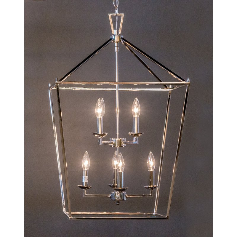 Most Recent Carmen 8 Light Lantern Tiered Pendants Regarding Carmen 8 Light Lantern Pendant (View 7 of 25)