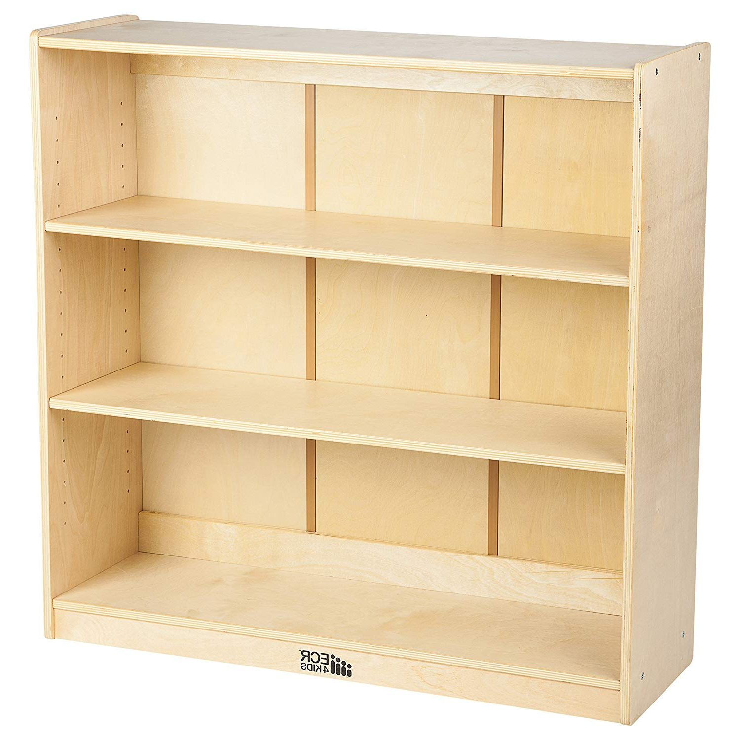 """Most Recent Classroom Cubby Standard Bookcases In Ecr4Kids Birch Bookcase With Adjustable Shelves, Wood Book Shelf Organizer  For Kids, 3 Shelf, Natural, 36"""" H (View 13 of 20)"""