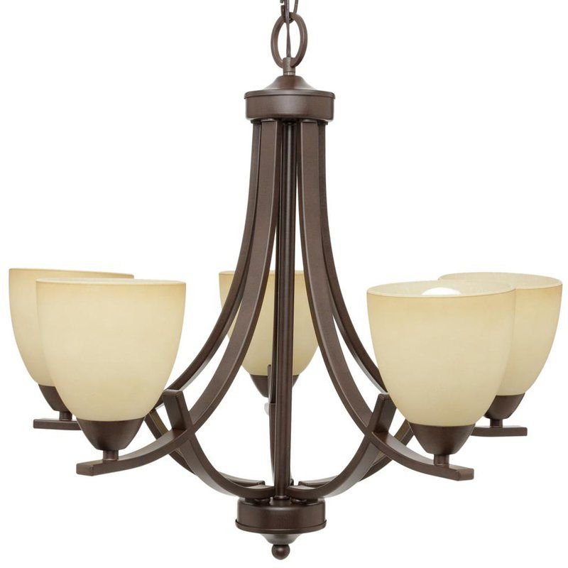 Most Recent Crofoot 5 Light Shaded Chandelier In  (View 17 of 25)