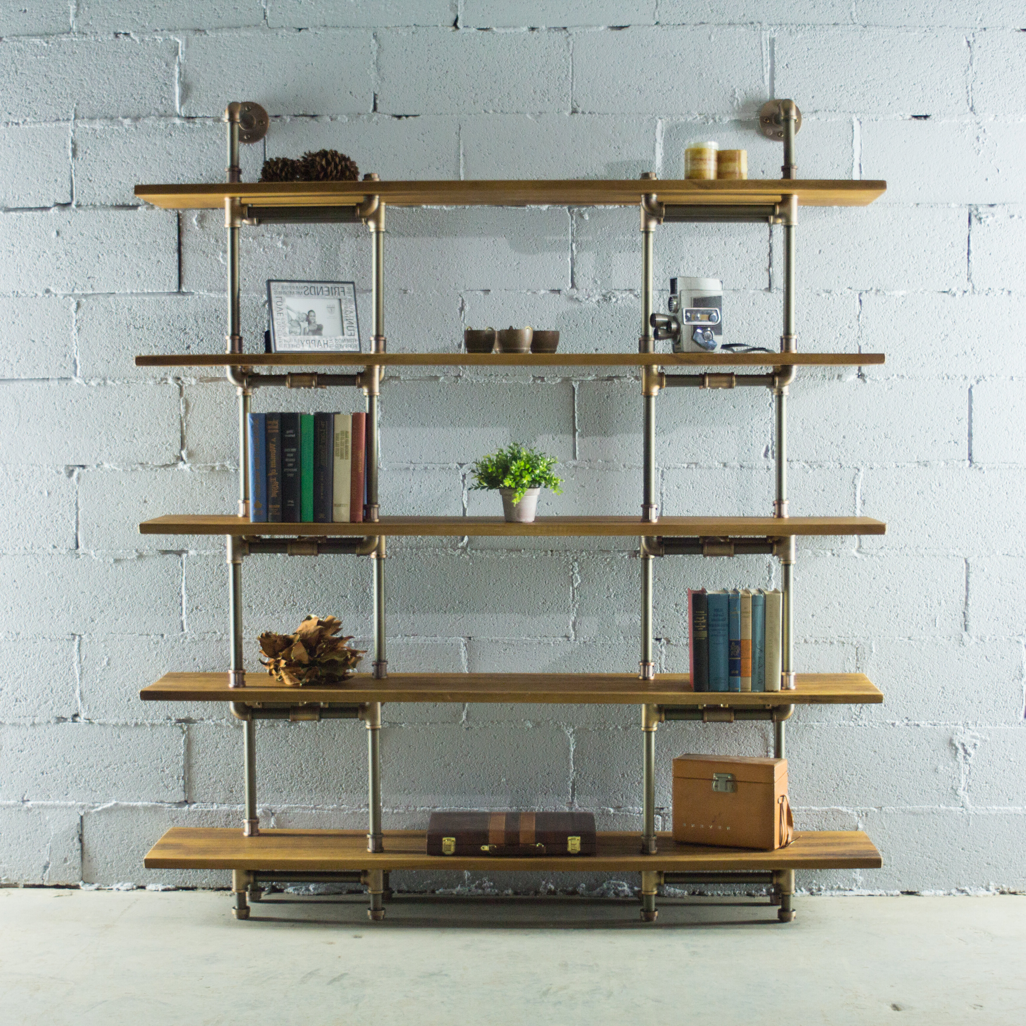 Most Recent Farmhouse & Rustic 17 Stories Bookcases & Bookshelves With Thea Blondelle Library Bookcases (View 17 of 20)