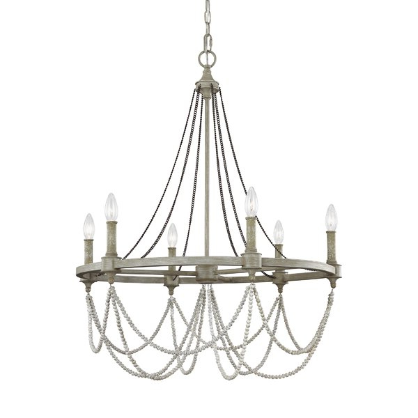 Most Recent Fitzgibbon 6 Light Candle Style Chandelier Intended For Diaz 6 Light Candle Style Chandeliers (View 15 of 25)