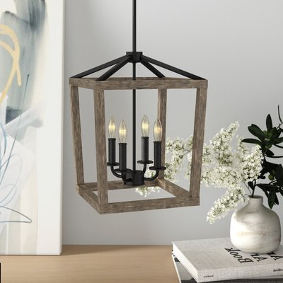 Most Recent Freeburg 4 Light Lantern Square / Rectangle Pendants With 4 Light Lantern Square / Rectangle Pendant (View 13 of 25)