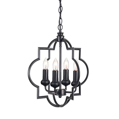 Most Recent Geometric Chandelier: Amazon Within Kaycee 4 Light Geometric Chandeliers (View 19 of 25)