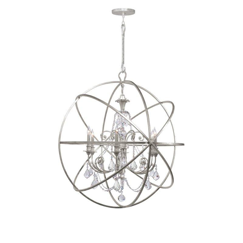 Most Recent Gregoire 6 Light Globe Chandelier Within Gregoire 6 Light Globe Chandeliers (View 16 of 25)