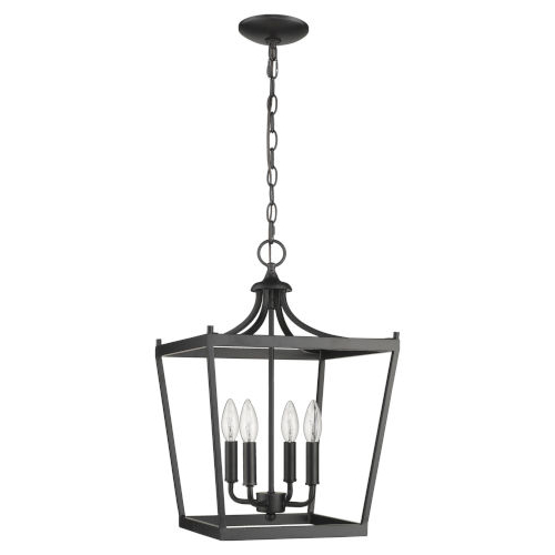 Most Recent Kenedy 9 Light Candle Style Chandeliers With Acclaim Lighting Kennedy Matte Black Four Light Chandelier (View 21 of 25)