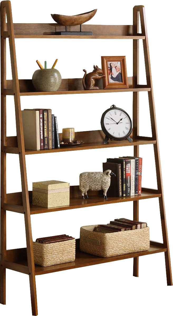 Most Recent Leandra Ladder Bookcases In Ladder Bookcase (View 6 of 20)