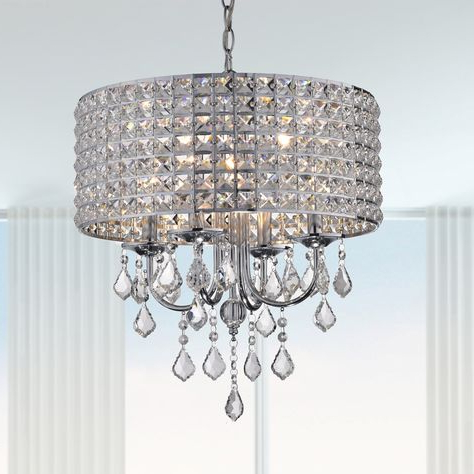 Most Recent Sinead 4 Light Chandeliers For Barkell 4 Light Crystal Chandelier (View 13 of 25)