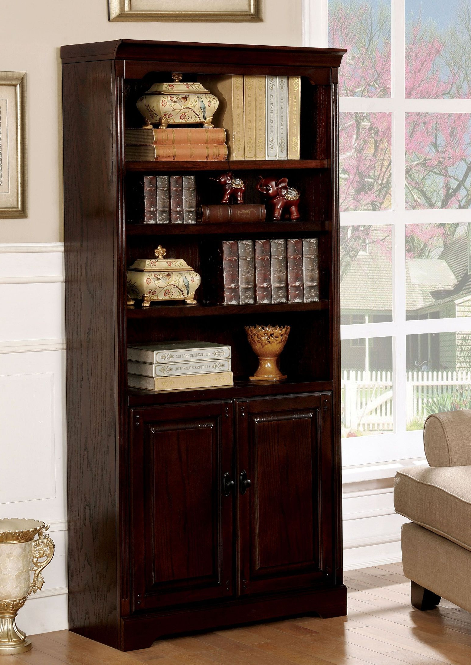 Most Recent Tami Dark Walnut Book Shelf With Tami Standard Bookcases (View 15 of 20)