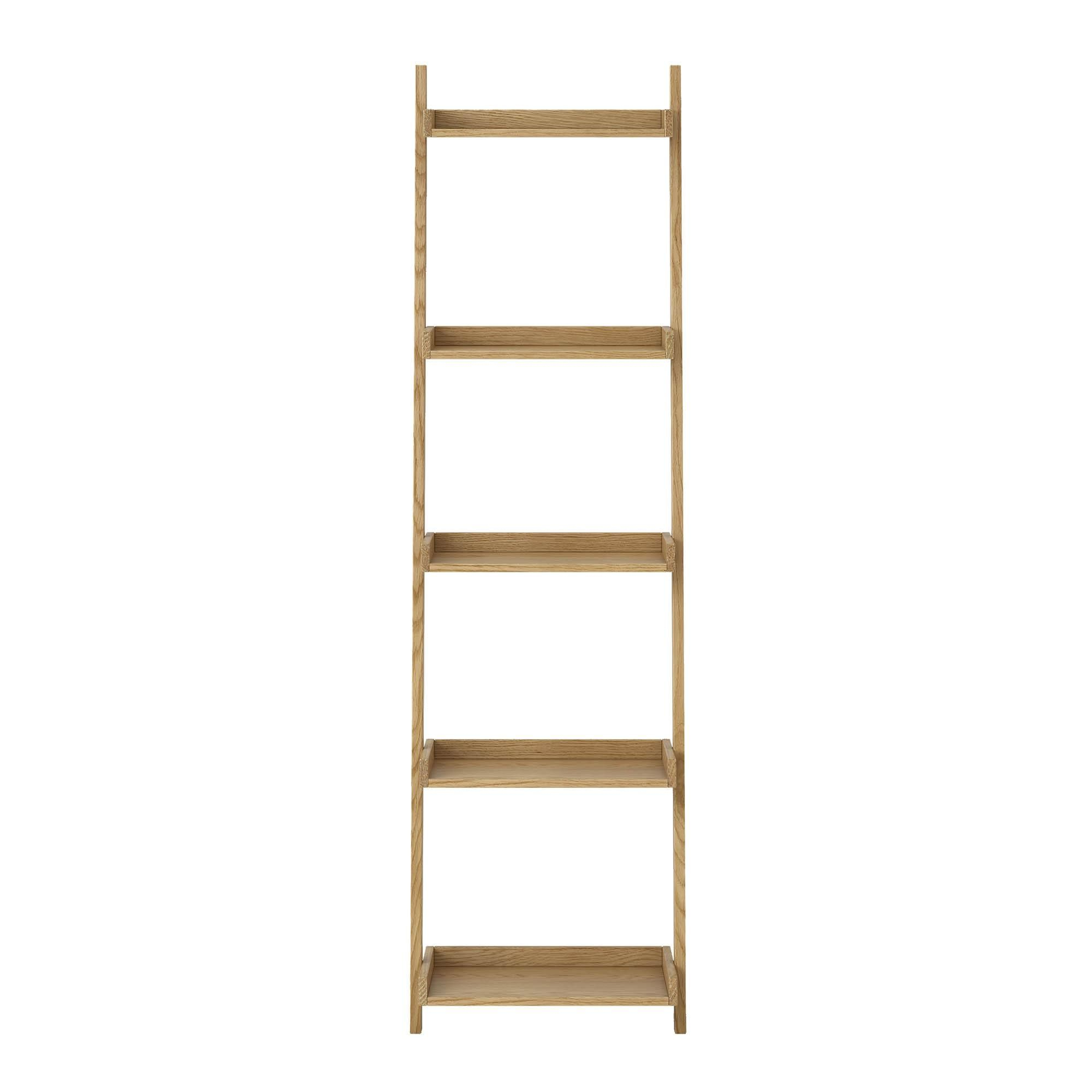 Most Recent Thin Bookcase Sidmouth Oak Narrow Ladder Bookcase Ktojtim In Within Narrow Ladder Bookcases (View 13 of 20)