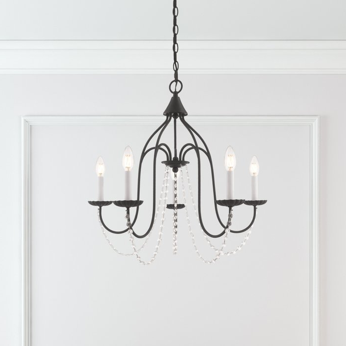 Most Recent Watford 6 Light Candle Style Chandeliers Intended For Florentina 5 Light Candle Style Chandelier (View 7 of 25)