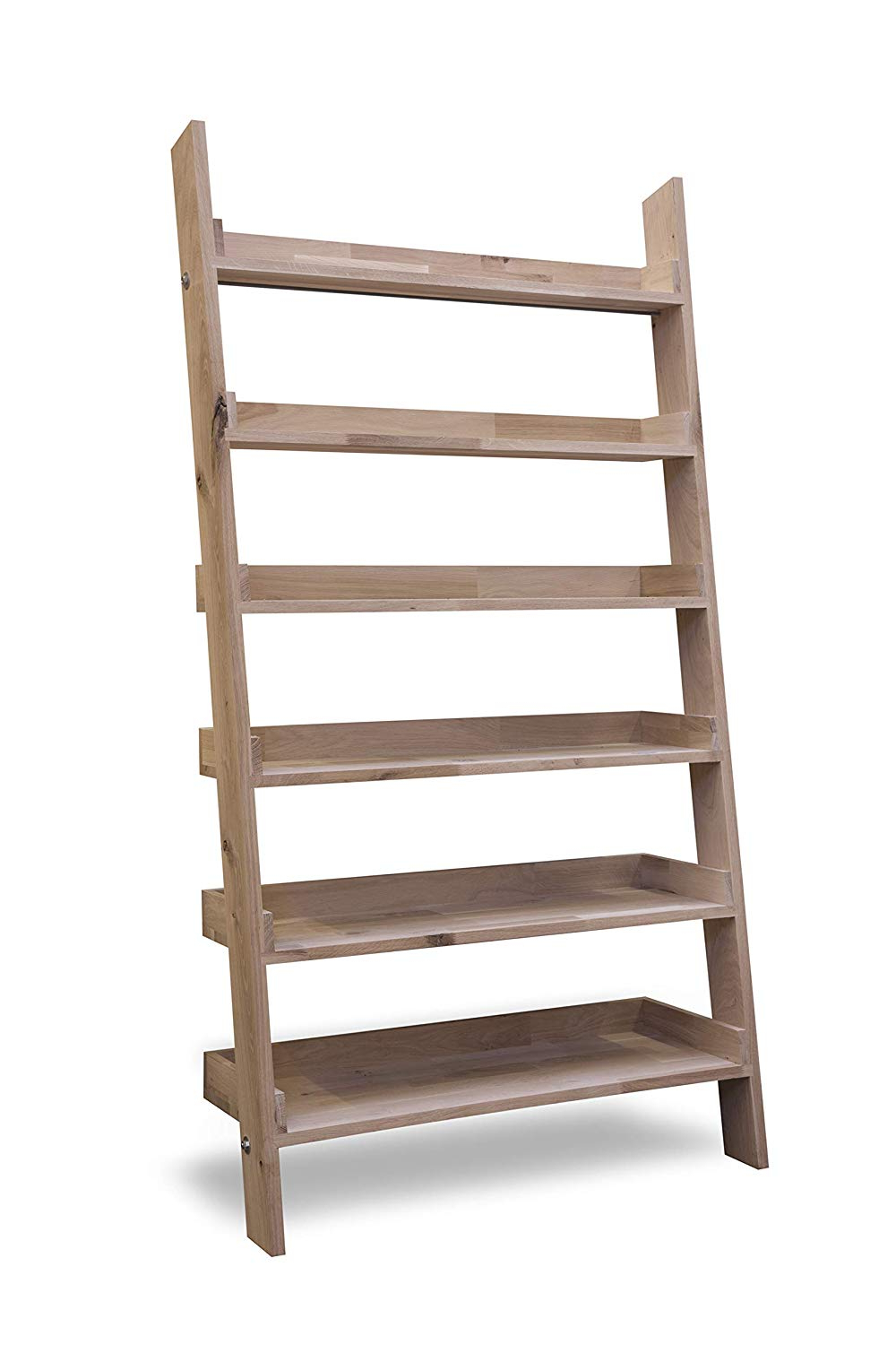Most Recent Wide Ladder Bookcases With Leisure Traders Large Wide Wooden Ladder Bookshelf Floating (View 10 of 20)
