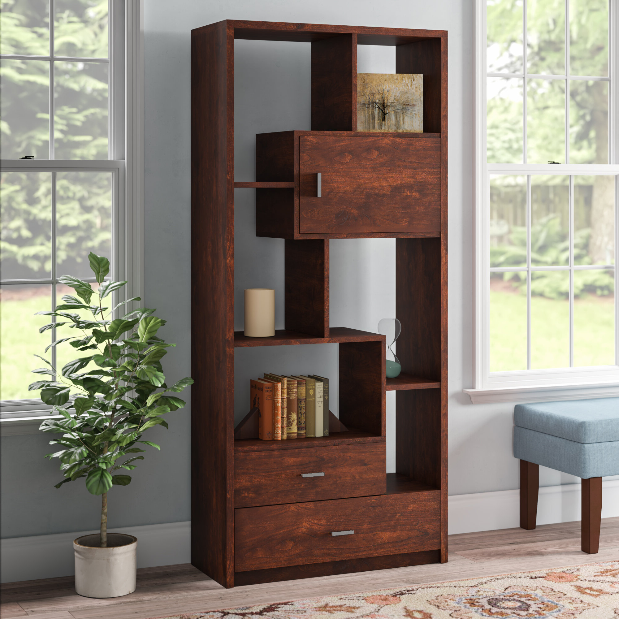 Most Recently Released Aitana Cube Bookcase Regarding Strauss Cube Unit Bookcases (View 6 of 20)