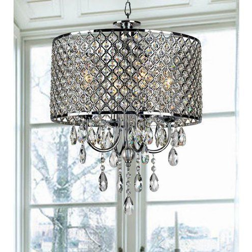Most Recently Released Aurore 4 Light Crystal Chandeliers With Regard To Aurore 4 Light Crystal Chandelier (View 20 of 25)