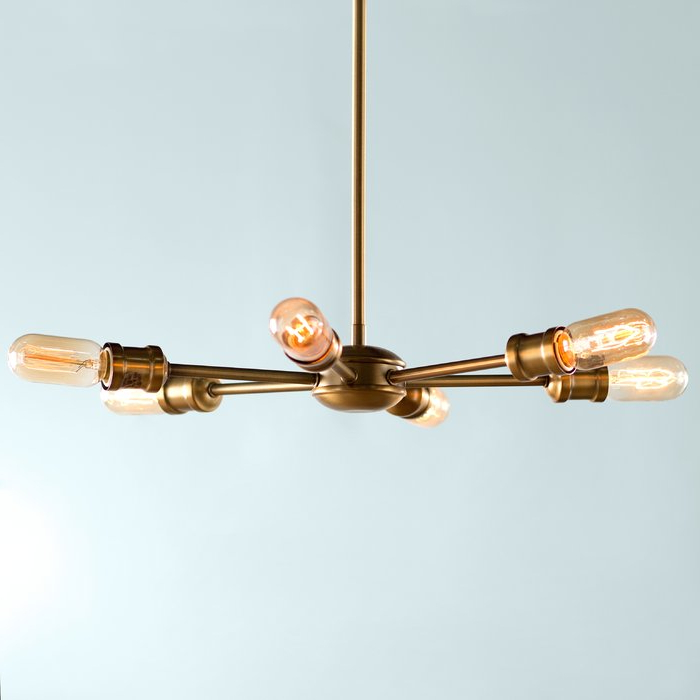 Most Recently Released Bautista 6 Light Sputnik Chandelier Within Bautista 6 Light Sputnik Chandeliers (View 16 of 25)