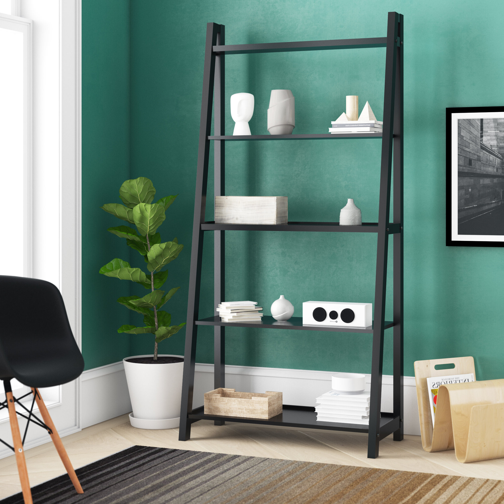 Most Recently Released Blevens A Frame Ladder Bookcases Intended For Blevens A Frame Ladder Bookcase (View 2 of 20)