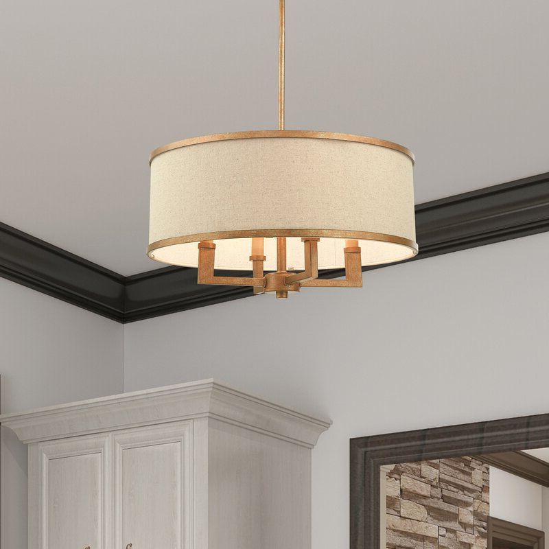 Most Recently Released Breithaup 4 Light Drum Chandeliers Within Breithaup 4 Light Drum Chandelier (View 16 of 25)