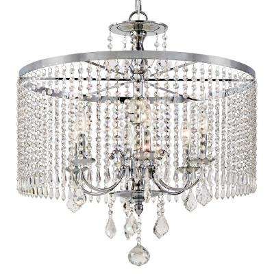Most Recently Released Burton 5 Light Drum Chandeliers In Drum – Chandeliers – Lighting – The Home Depot (View 21 of 25)