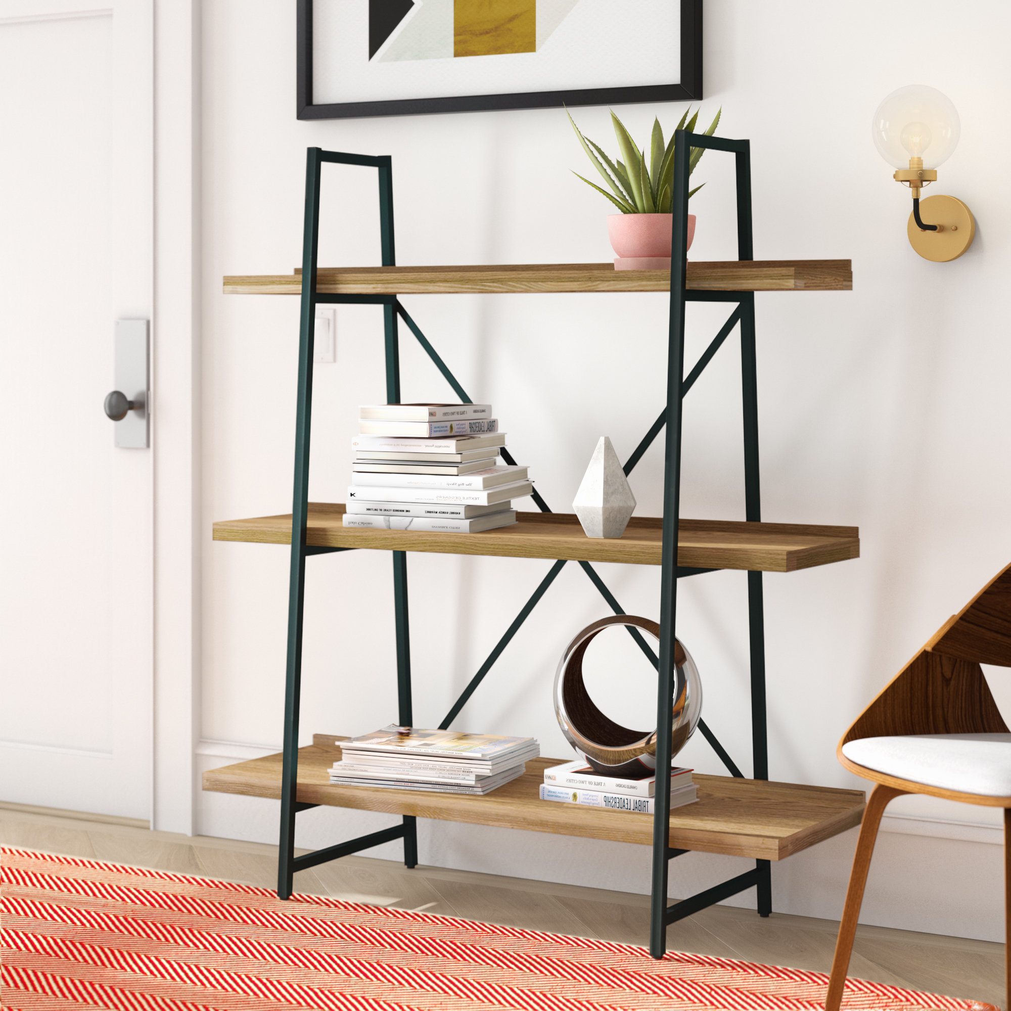 Most Recently Released Champney Modern Etagere Bookcases Throughout Champney Etagere Bookcase (View 15 of 20)