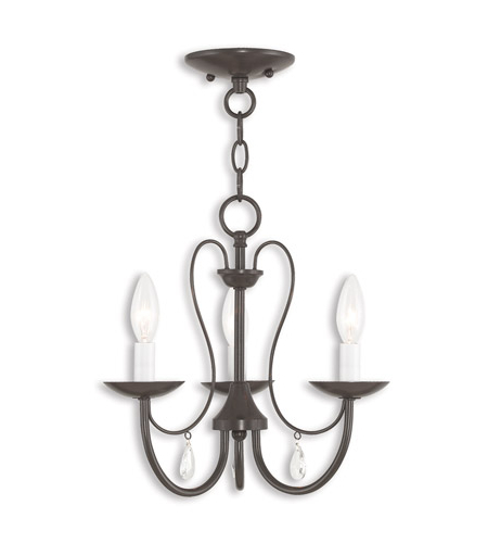 Most Recently Released Clea 3 Light Crystal Chandeliers Inside Mirabella 3 Light 15 Inch English Bronze Chandelier Ceiling Light (View 7 of 25)