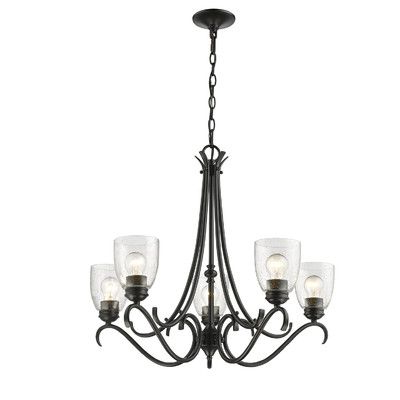 Most Recently Released Diaz 6 Light Candle Style Chandeliers For Laurel Foundry Modern Farmhouse Sheila 5 Light Shaded (View 16 of 25)