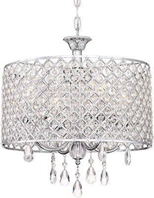 Most Recently Released Edvivi Marya 4 Lights Oil Rubbed Bronze Round Crystal With Regard To Mckamey 4 Light Crystal Chandeliers (View 22 of 25)