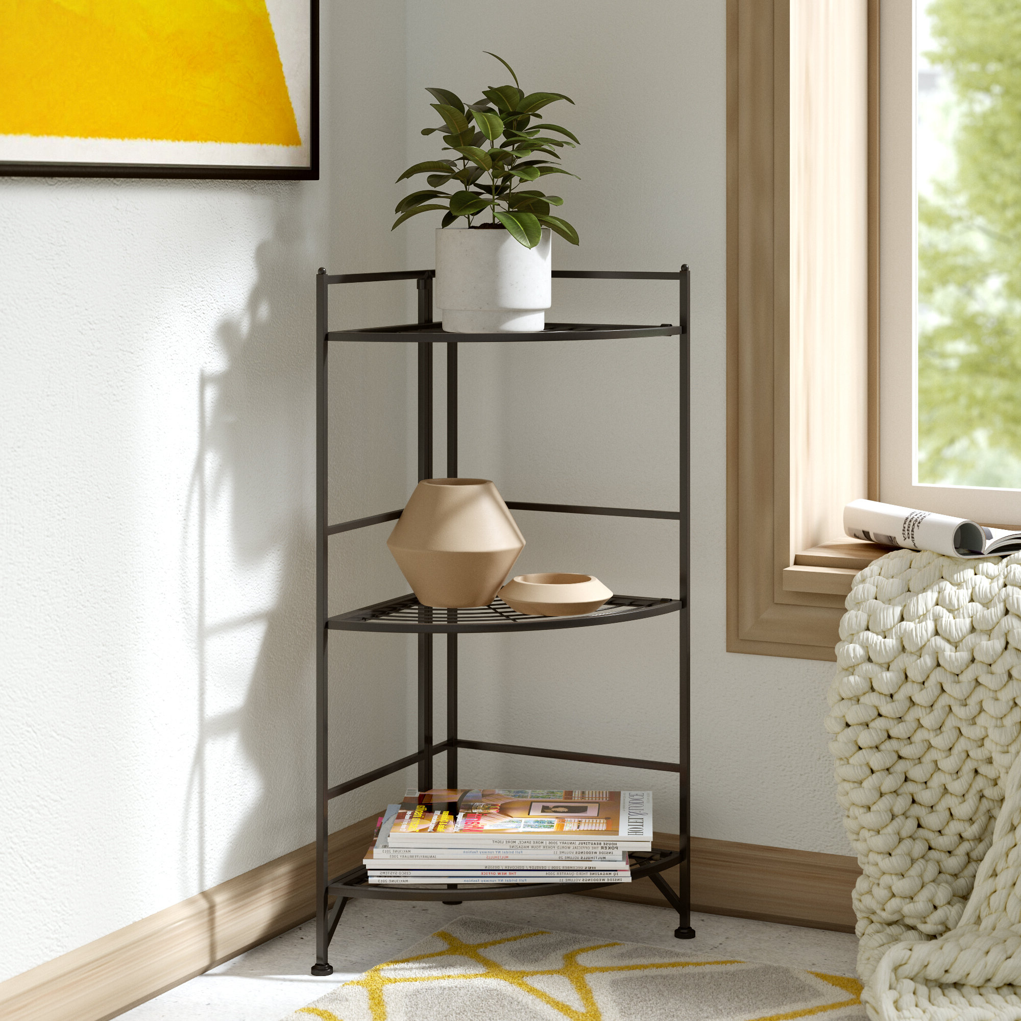 Most Recently Released Edwin Corner Bookcase Pertaining To Beckett Corner Bookcases (View 9 of 20)