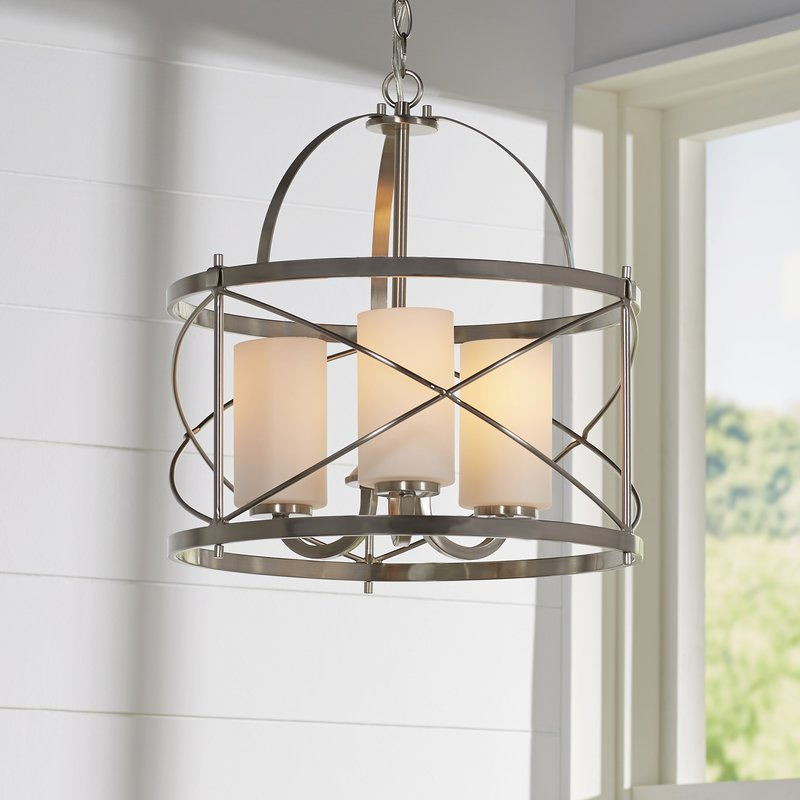 Most Recently Released Farrier 3 Light Lantern Drum Pendant Pertaining To Tadwick 3 Light Single Drum Chandeliers (View 11 of 25)