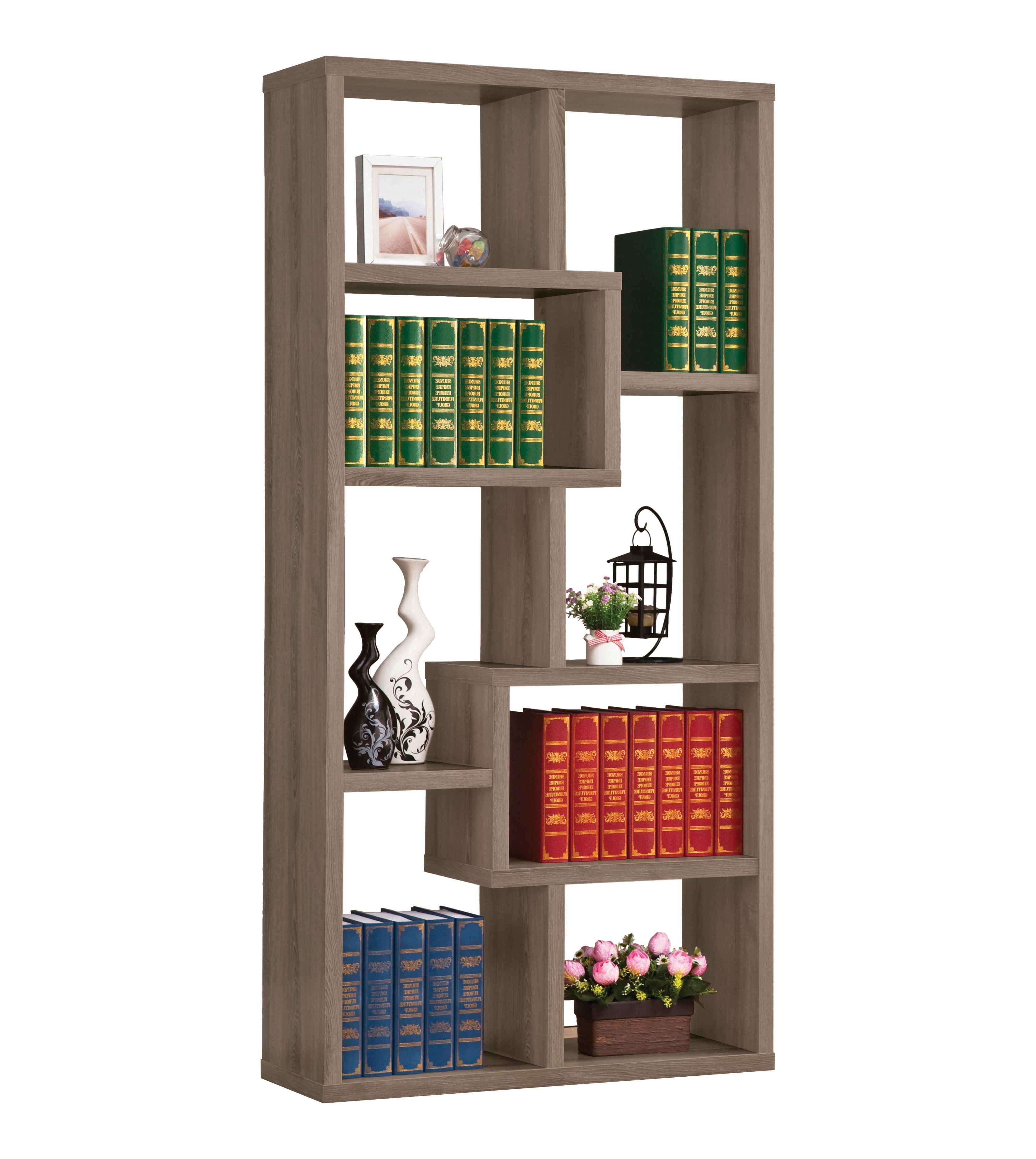 Most Recently Released Ignacio Standard Bookcases Regarding Skaggs Geometric Bookcase (View 12 of 20)