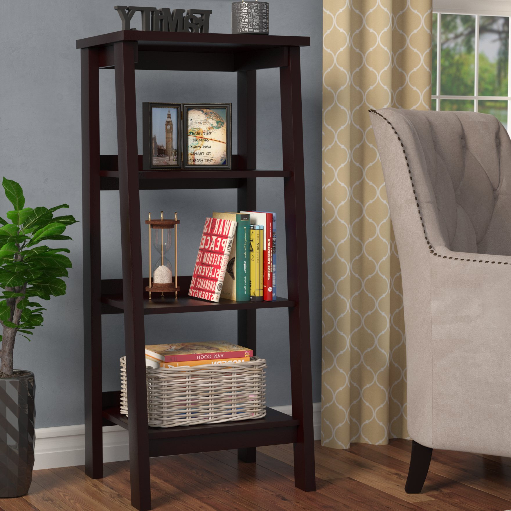 Most Recently Released Massena Ladder Bookcases In Massena Ladder Bookcase (View 15 of 20)