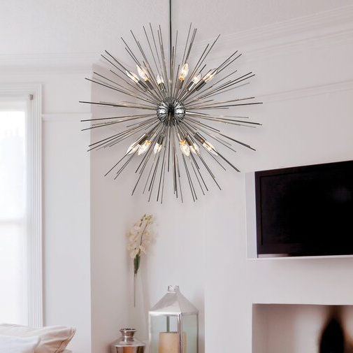 Most Recently Released Nelly 12 Light Sputnik Chandeliers For Antonie 12 Light Sputnik Chandelier (View 14 of 25)