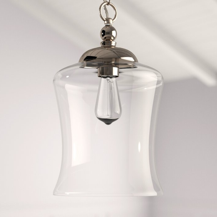 Most Recently Released Nolan 1 Light Lantern Chandeliers Regarding Wentzville 1 Light Single Bell Pendant (View 10 of 25)