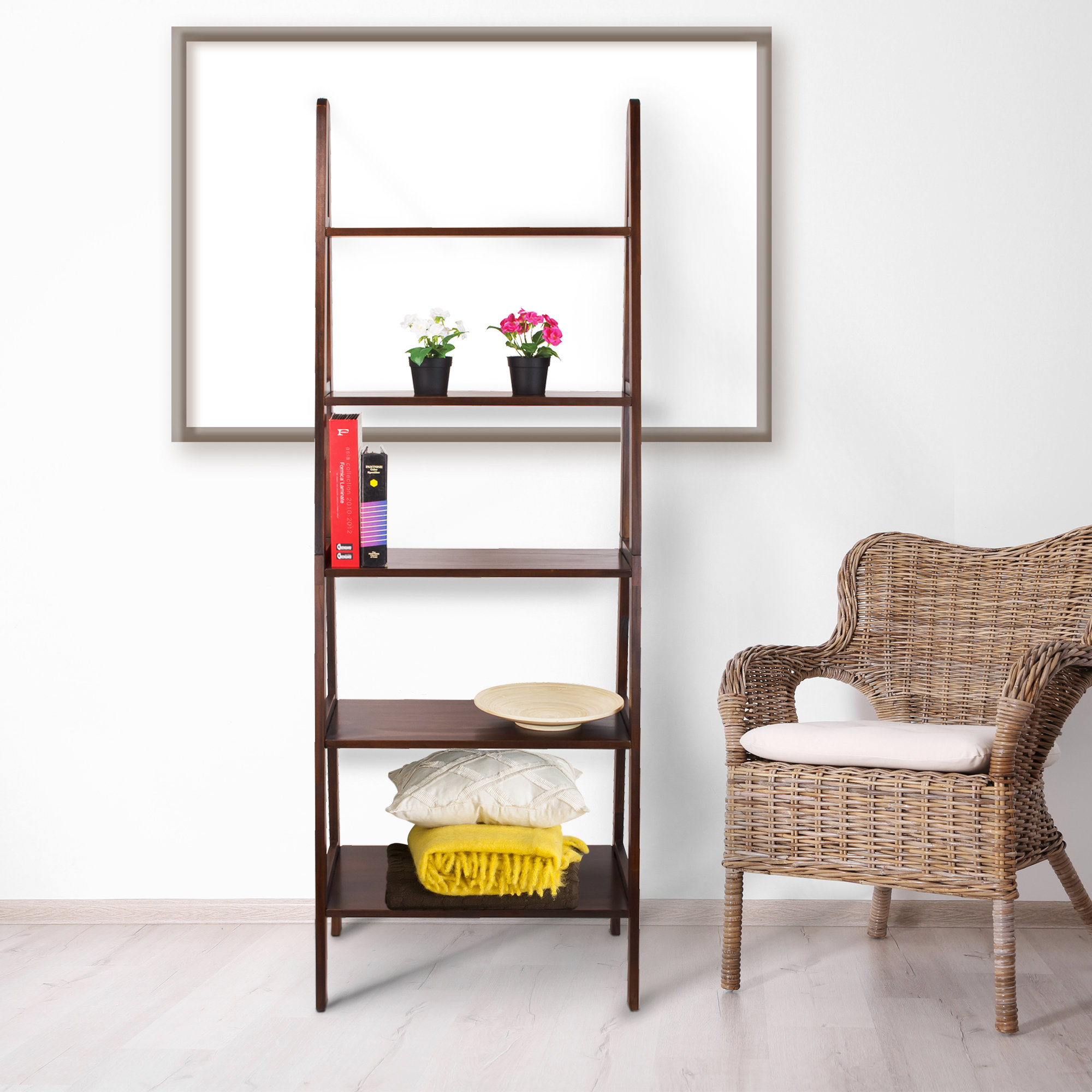 Most Recently Released Ranie Ladder Bookcases Pertaining To Zipcode Design Ranie Ladder Bookcase (View 11 of 20)