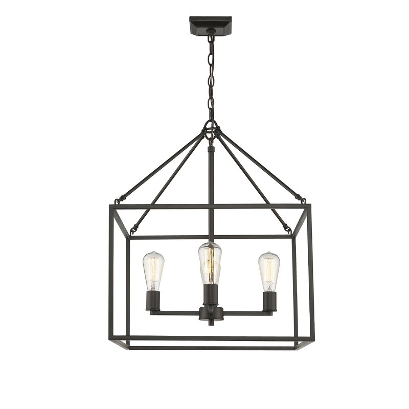 Most Up To Date 4 Light Lantern Square / Rectangle Pendants Pertaining To Zabel 4 Light Lantern Square / Rectangle Pendant (View 7 of 25)