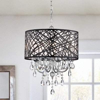Most Up To Date Albano 4 Light Crystal Chandelier In Aldgate 4 Light Crystal Chandeliers (View 25 of 25)