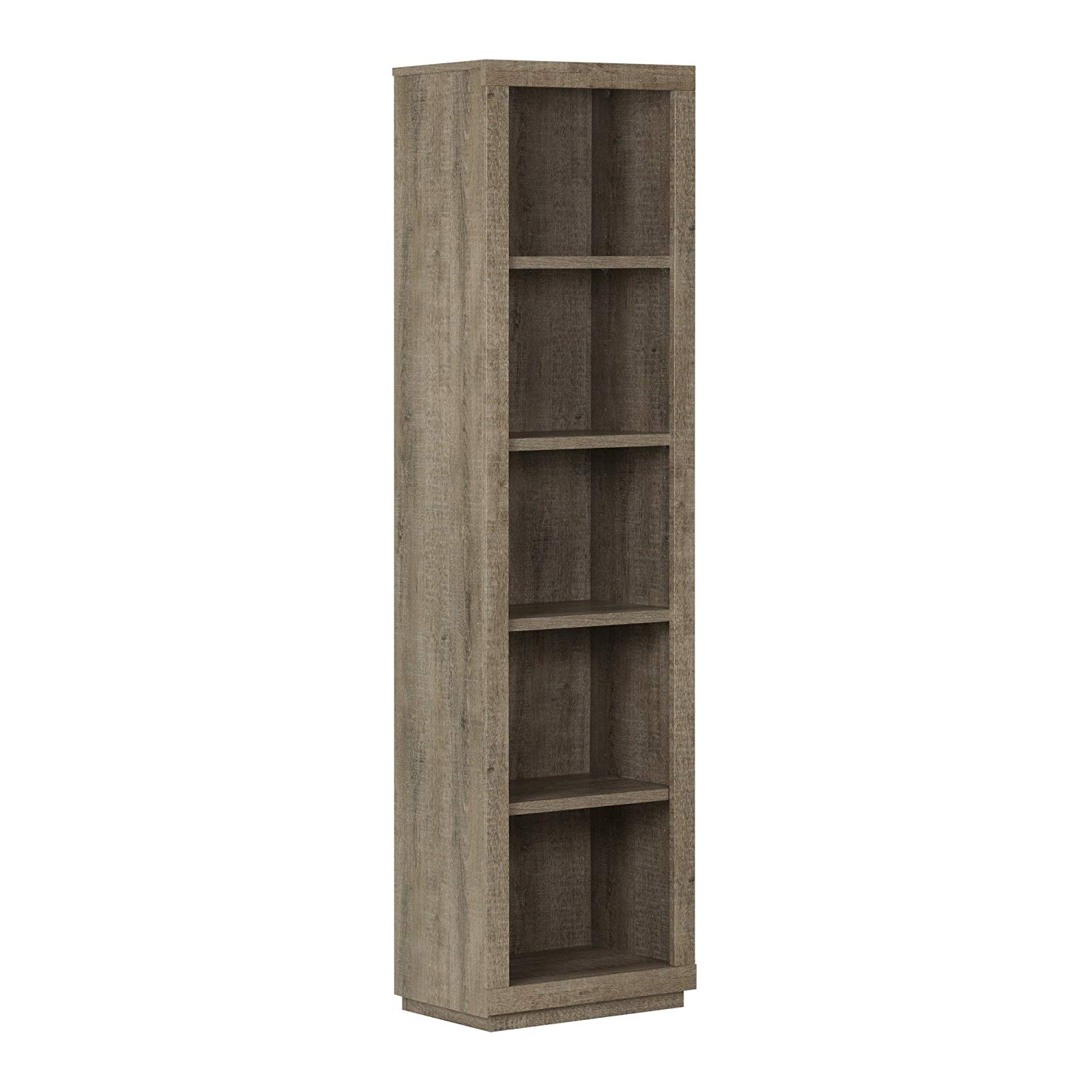 Most Up To Date Amazon: South Shore Narrow 5 Shelf Storage Bookcase Inside Narrow Profile Standard Cube Bookcases (View 4 of 20)