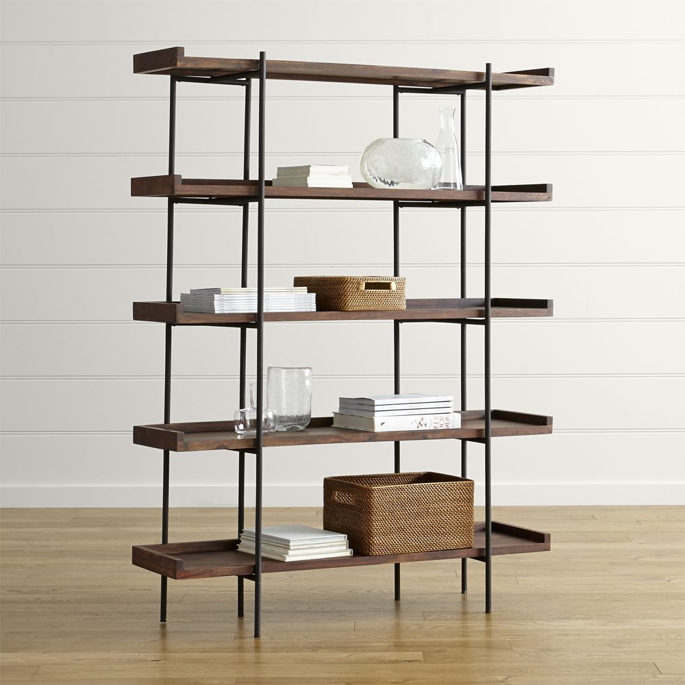 Most Up To Date Beckett Corner Bookcases With Beckett 5 High Shelf Sable (View 10 of 20)
