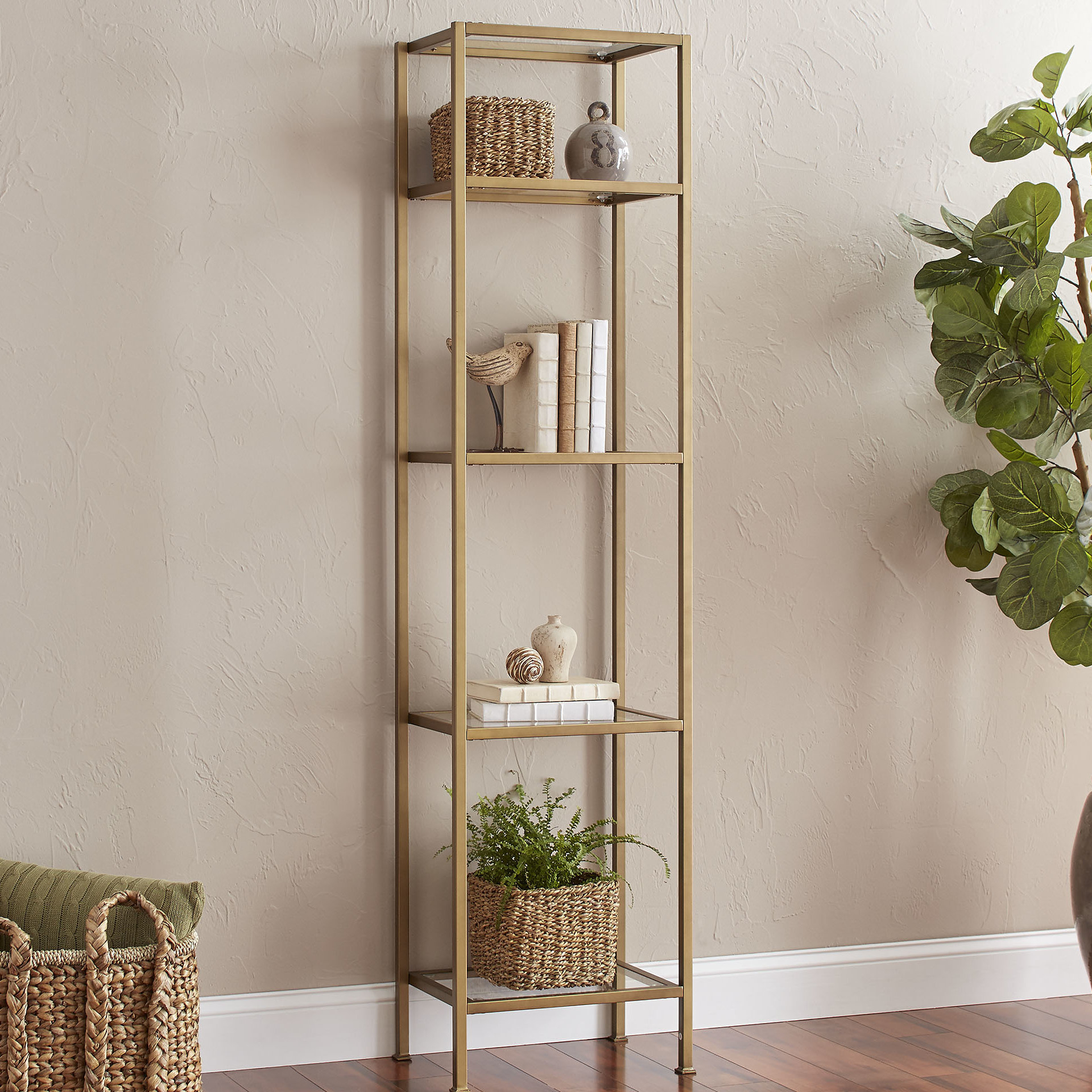 Most Up To Date Buchanan Etagere Bookcase & Reviews (View 16 of 20)