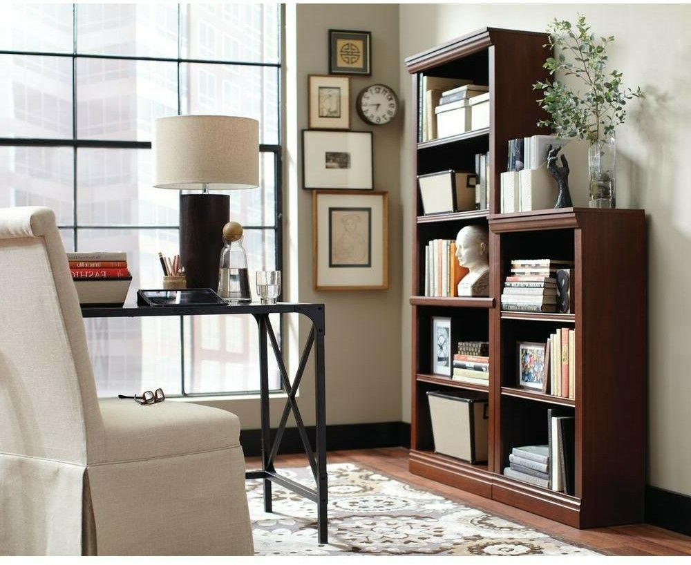Most Up To Date Cerrato Standard Bookcases With Regard To 3 Shelf Standard Bookcase Office Home Furniture Book Storage Organzer Dark  Brown (View 15 of 20)