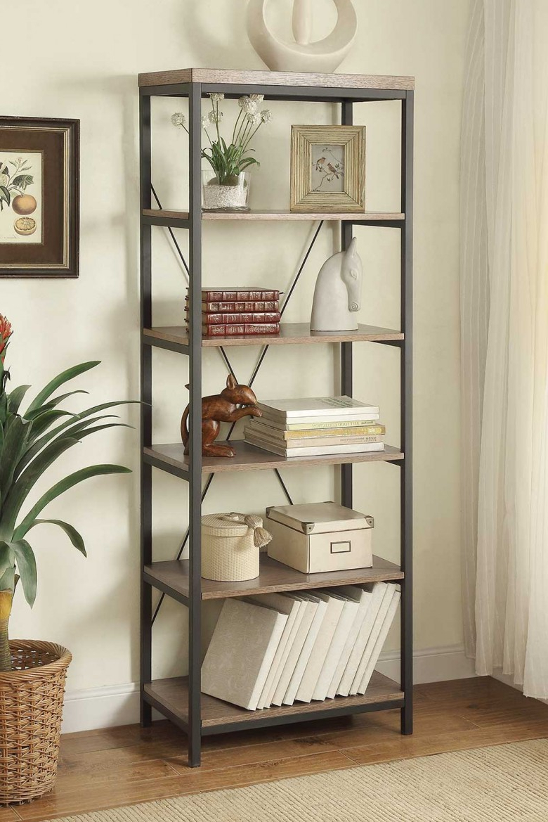 """Most Up To Date Daria Grey 26"""" Bookcase In Daria Standard Bookcases (View 16 of 20)"""