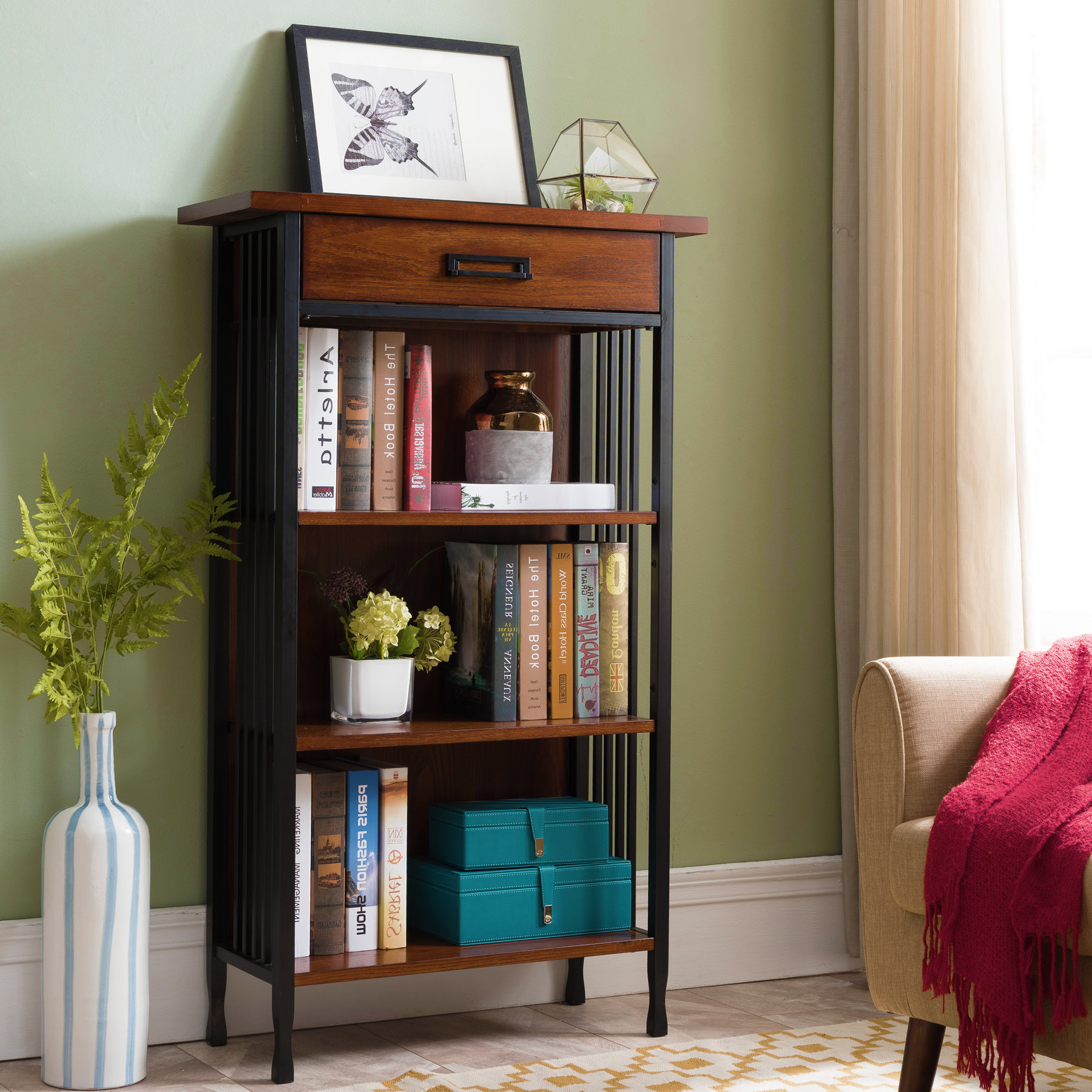 Most Up To Date Decorative Standard Bookcases Pertaining To Perao Standard Bookcase (View 17 of 20)