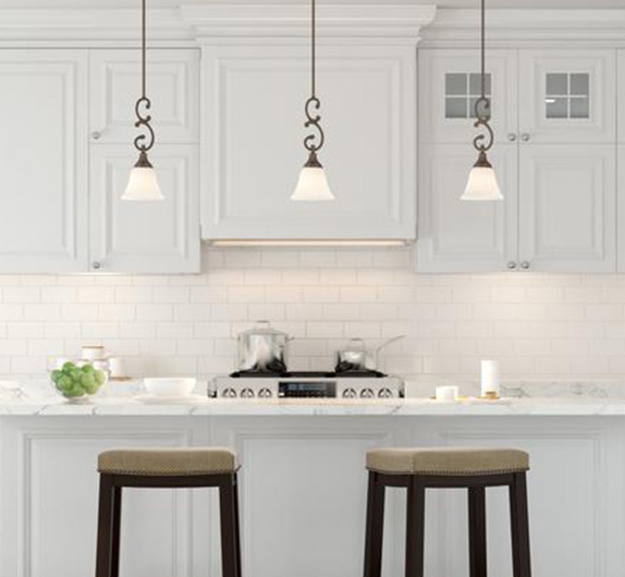 Most Up To Date Dirksen 3 Light Single Cylinder Chandeliers Within Pendant Lights – Lighting – The Home Depot (View 15 of 25)